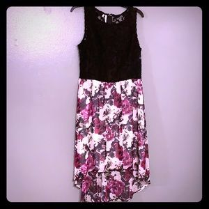 Studio Y Black Lace and Floral Dress